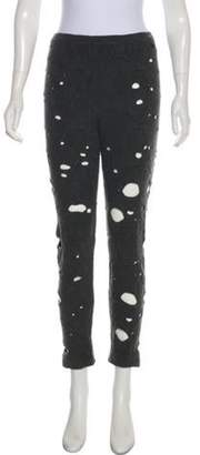 Chanel Wool & Angora Leggings Grey Wool & Angora Leggings