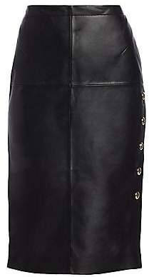 Escada Women's Laria Leather Pencil Skirt