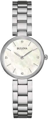 Bulova Women's Diamond Accented Analog Quartz Bracelet Watch, 27mm - 0.02 ctw