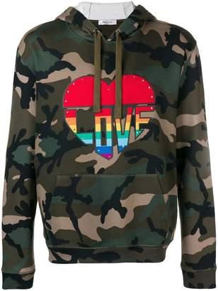 Valentino Love camouflage hoodie