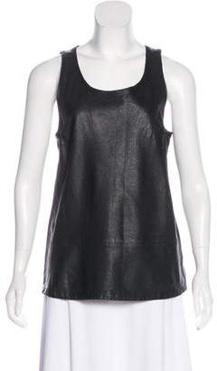 Joie Sleeveless Leather Top