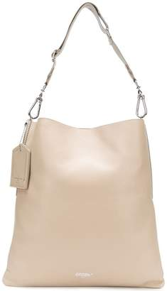 Golden Goose slouched logo hobo tote