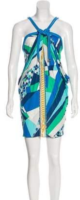Emilio Pucci Braid-Accented Printed Dress