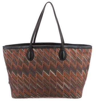 Missoni Knitted Print Tote