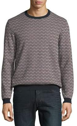 Emporio Armani Men's Geometric-Knit Jacquard Sweater
