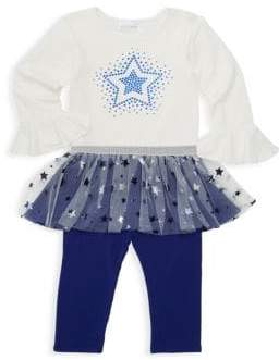 Baby Girl's Two-Piece Pullover & Tutu Leggings Set