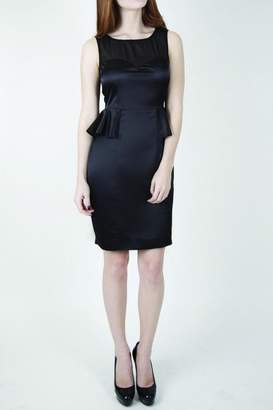 Whistle And Wolf Black Peplum Dress
