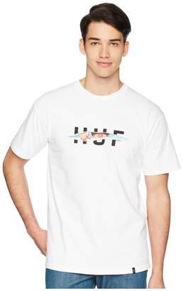 HUF OG Logo Ripped T-Shirt Men's T Shirt