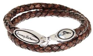 Tommy Bahama Brown Braided Leather Cord Bracelet