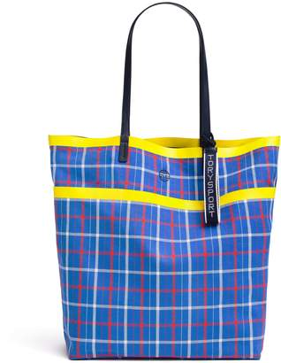 da0d2bfabec Tory Sport REVERSIBLE COATED CANVAS TOTE