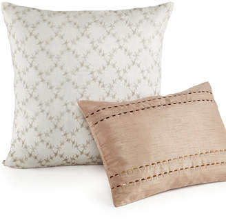 "Calvin Klein 18"" Square Embroidered Lattice Decorative Pillow Bedding"