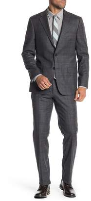 Hickey Freeman Classic Fit Wool & Cashmere Plaid Suit