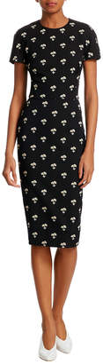 Victoria Beckham Floral-Print Sheath Dress