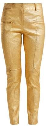 Sies Marjan Brin Metallic Leather Biker Trousers - Womens - Gold