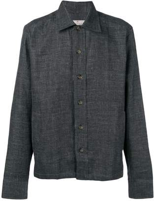 Canali plain shirt jacket