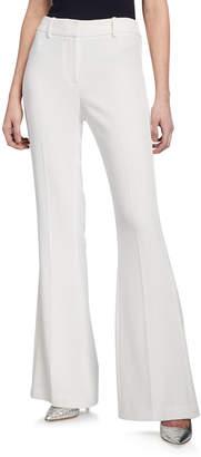 Elie Tahari Anna Mid-Rise Crepe Flare Pants