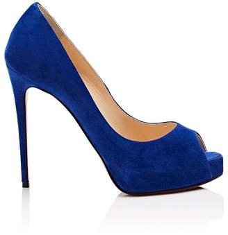 Christian Louboutin Women's Very Prive Suede Platform Pumps