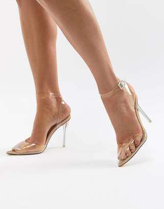 Missguided Clear Pointed Pumps