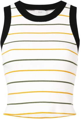 A.L.C. (エーエルシー) - A.L.C. cropped stripe tank top