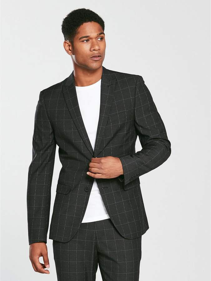 Slim Check Suit Jacket