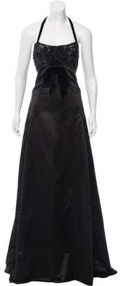 Valentino Embellished Satin Gown w/ Tags