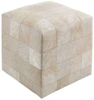 Surya Sophisticate, 18x18x18 Pouf, Khaki