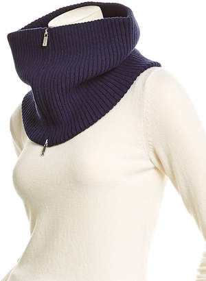 Lafayette 148 New York Luxe Ribbed Wool-Blend Collar