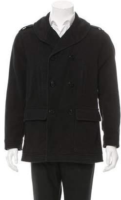 Michael Bastian Double-Breasted Shawl Collar Coat