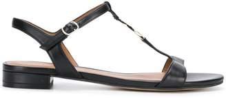 Emporio Armani logo coin sandals