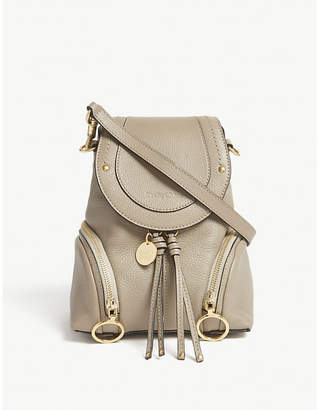 See by Chloe Motty Grey Small Olga Leather Backpack