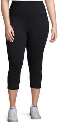 Gaiam Om High Rise Quick Dry Capri Leggings - Plus
