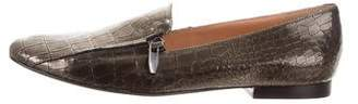 Sigerson Morrison Embossed Leather Loafers
