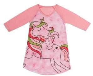 Petit Lem Little Girl's & Girl's Rule Three-Quarter Nightgown