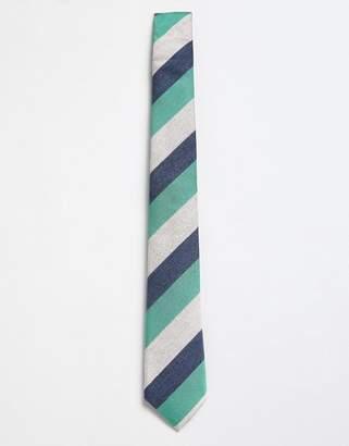 Moss Bros tie with multi stripe