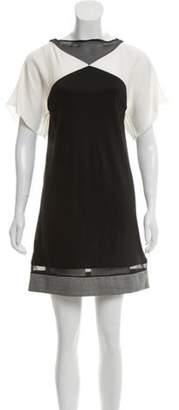 Vionnet Virgin Wool Mini Dress Black Virgin Wool Mini Dress