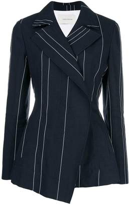 Cédric Charlier double-breasted striped blazer