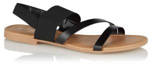 e81e5ed369a CAT George Wide Fit Black Elasticated Strappy Sandals