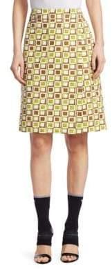 Prada Printed Poplin Wrap Skirt