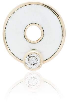 Foundrae 18K yellow gold, diamond and enamel disc charm