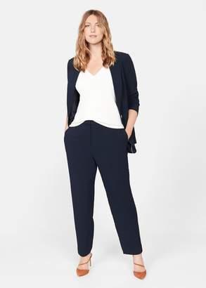 MANGO Violeta BY Slim fit suit pants dark navy - 10 - Plus sizes