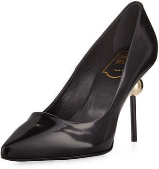Roger Vivier Patent Leather Pointed Pump, Black