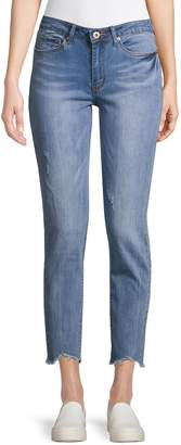 Dex Mid-Rise Distressed Boyfriend Jeans