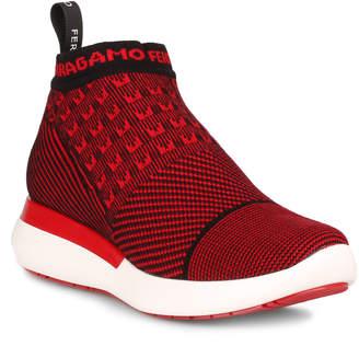 Salvatore Ferragamo Caprera red stretch sneaker