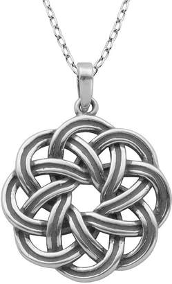 FINE JEWELRY Sterling Silver Wreath Pendant Necklace