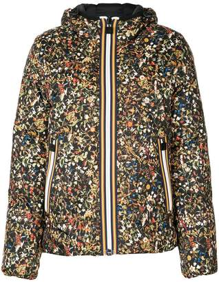 DSQUARED2 x K-Way floral print puffer jacket