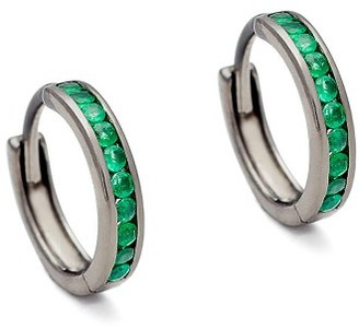 Women's Anna Sheffield Licol Emerald Hoop Earrings (Nordstrom Exclusive) $595 thestylecure.com
