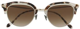 Giorgio Armani round two-tone sunglasses