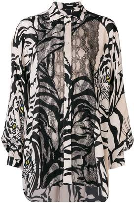 Valentino multicolour tiger printed shirt