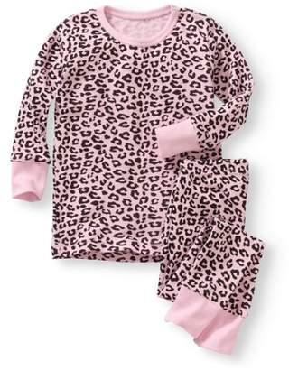 Baby Steps Newborn Baby Girl Long Sleeve 2 pc Pajama Set