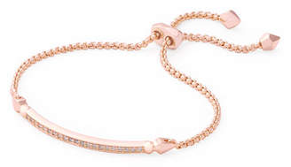 Kendra Scott OTT Adjustable Chain Bracelet w/ Cubic Zirconia, 14k Rose Gold-Plate